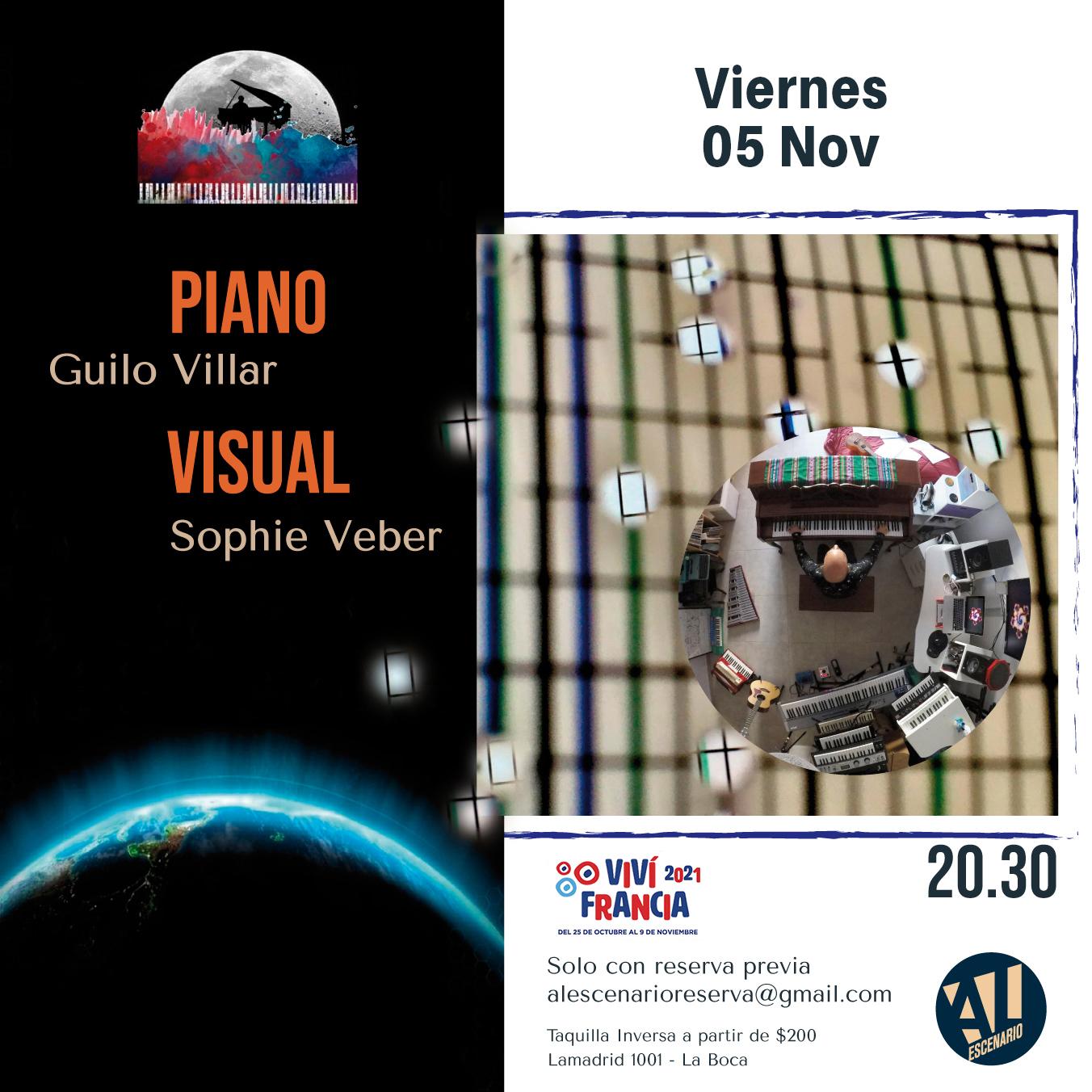 Flyer Piano Visual Noviembre Al Escenario